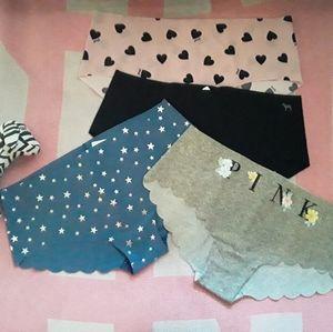 PINK panties bundle (M) New